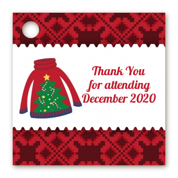 Ugly Sweater - Personalized Christmas Card Stock Favor Tags