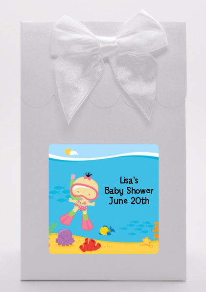 Under the Sea Asian Baby Girl Snorkeling - Baby Shower Goodie Bags