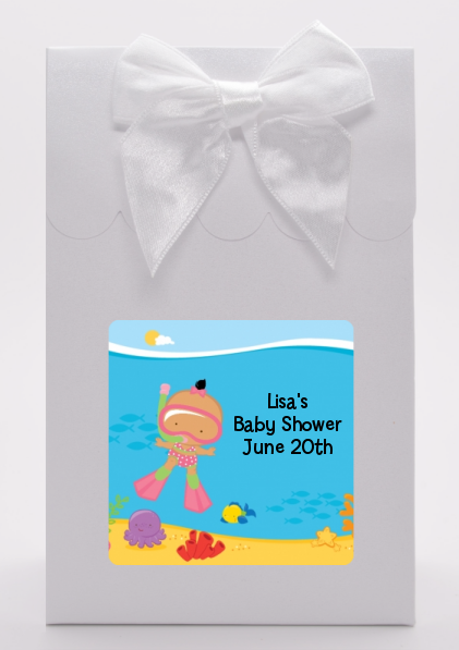 Under the Sea Hispanic Baby Girl Snorkeling - Baby Shower Goodie Bags