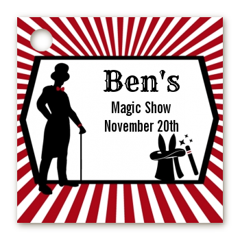 Vintage Magic - Personalized Birthday Party Card Stock Favor Tags