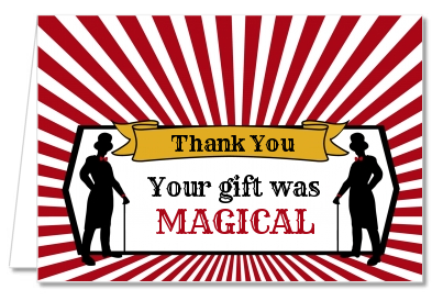 Vintage Magic - Birthday Party Thank You Cards