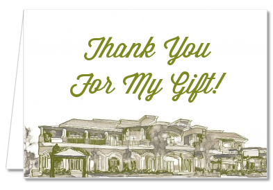 Winery - Bridal Shower Thank You Cards