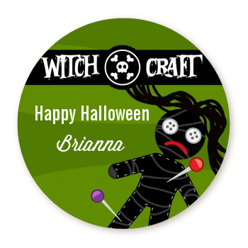 Witch Craft - Round Personalized Halloween Sticker Labels