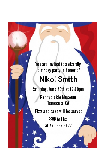 Wizard - Birthday Party Petite Invitations