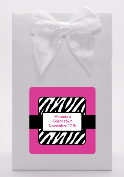 Zebra Print Pink - Birthday Party Goodie Bags