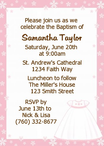 Pics photos baptism invitation sample wording image search results