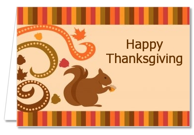 Acorn Harvest Fall Theme - Thanksgiving Thank You Cards