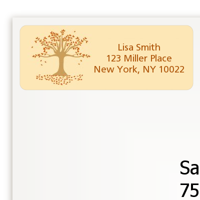 Autumn Tree - Bridal Shower Return Address Labels
