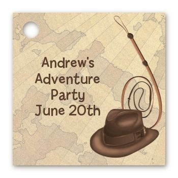 Adventure - Personalized Birthday Party Card Stock Favor Tags