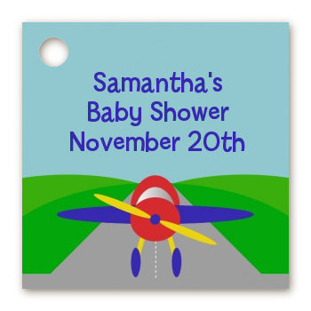 Airplane - Personalized Baby Shower Card Stock Favor Tags