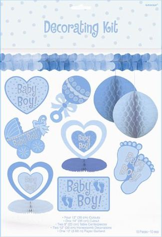 Baby decorations for a boy best baby decoration for Baby boy shower decoration kits