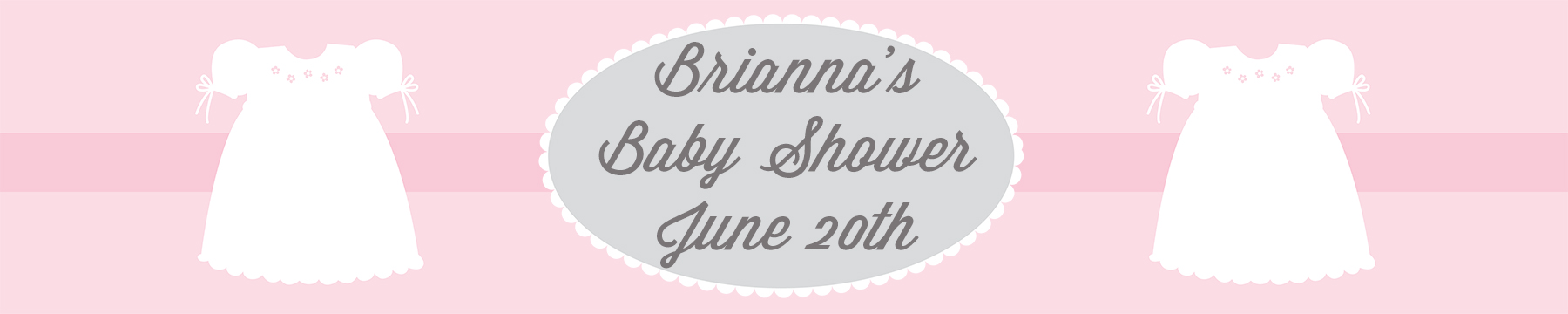 Sweet Little Lady - Personalized Baby Shower Banners thumbnail