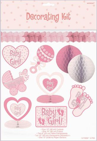 Attractive Baby Girl 10 Piece Decorating Kit