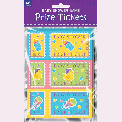 prize tickets baby shower game images