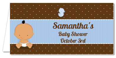 Baby Boy Hispanic - Personalized Baby Shower Place Cards