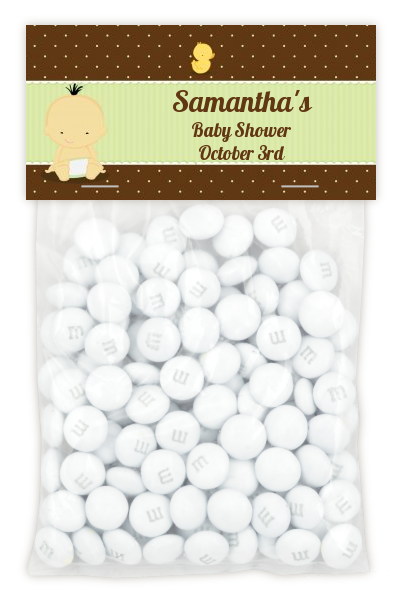 Baby Neutral Asian - Custom Baby Shower Treat Bag Topper