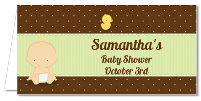 Baby Neutral Caucasian - Personalized Baby Shower Place Cards