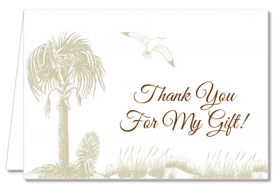 Beach Scene - Bridal Shower Thank You Cards