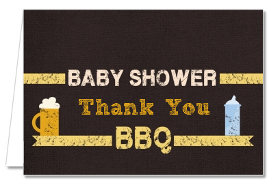 Beer and Baby Talk - Baby Shower Thank You Cards