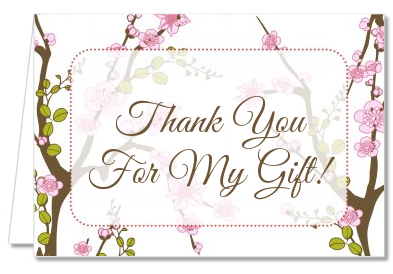 blossom bridal shower thank you cards