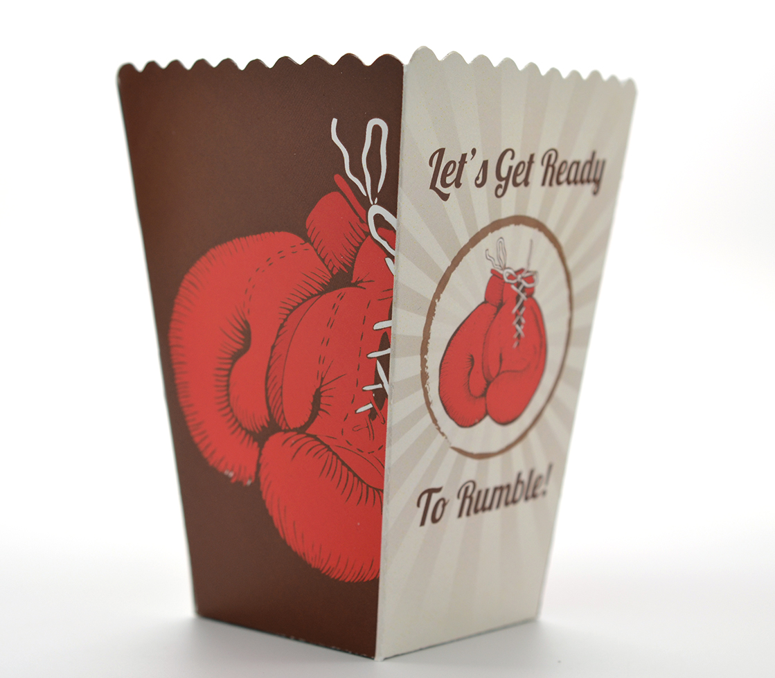 boxing gloves birthday party popcorn boxes