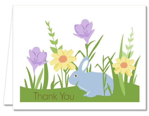 Bunny - Baby Shower Thank You Cards Brown Bunny