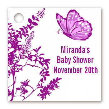 Butterfly - Personalized Baby Shower Card Stock Favor Tags