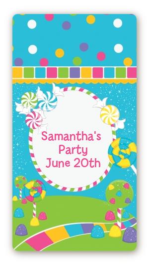 Candy Land Birthday Party Rectangular Sticker Labels