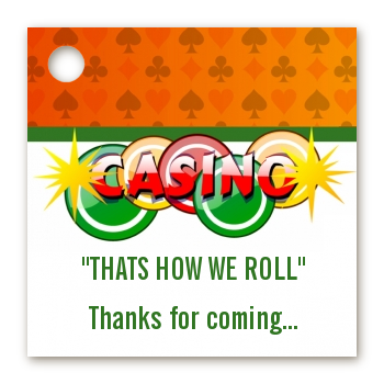 Casino Night Vegas Style - Personalized Birthday Party Card Stock Favor Tags