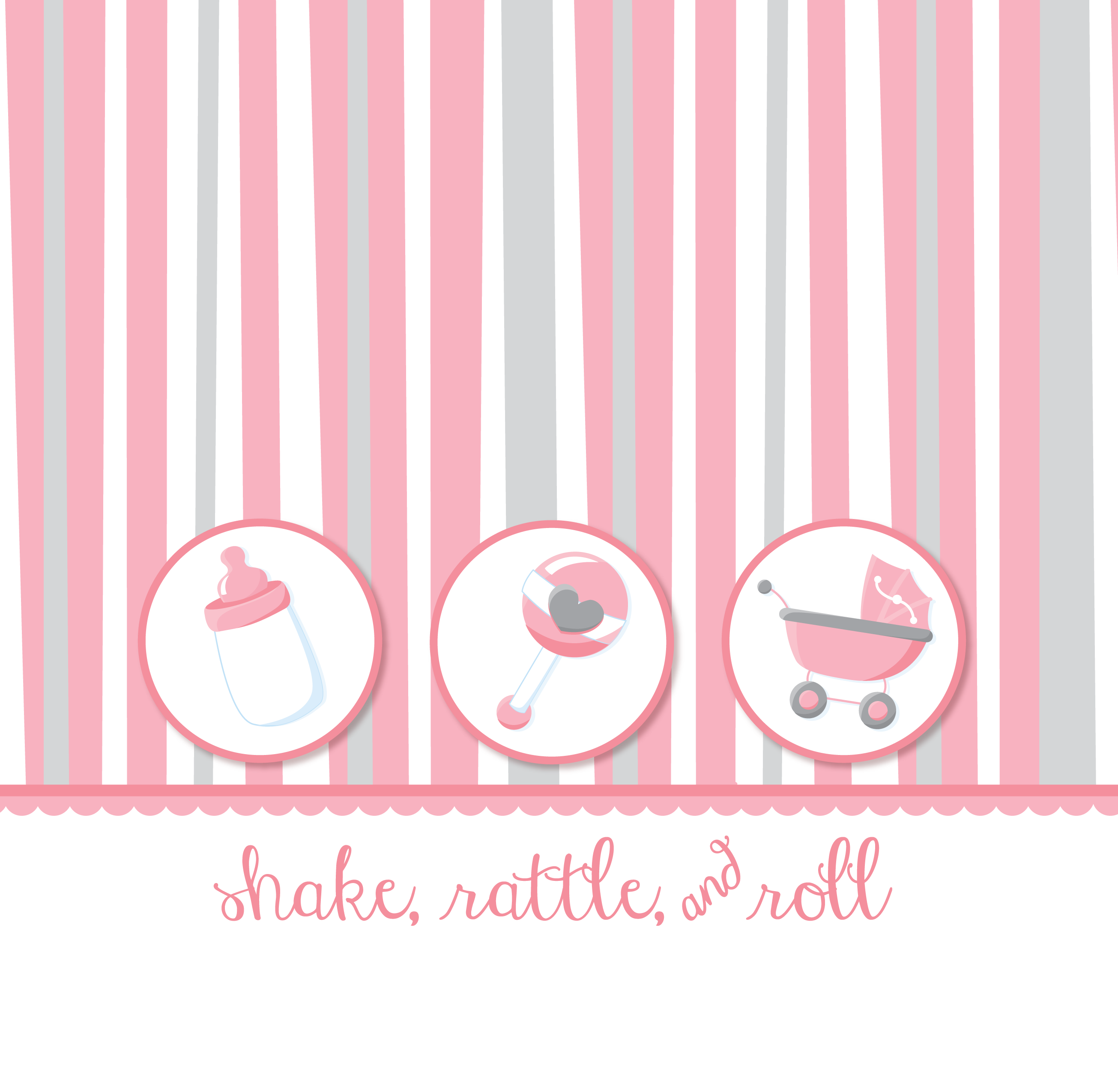 Shake, Rattle & Roll Pink Baby Shower Theme thumbnail