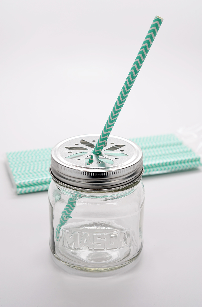 Teal Chevron - Baby Shower Decorative Paper Straws