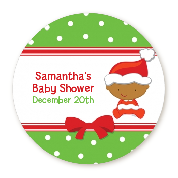 Labels christmas baby african american baby shower sticker labels