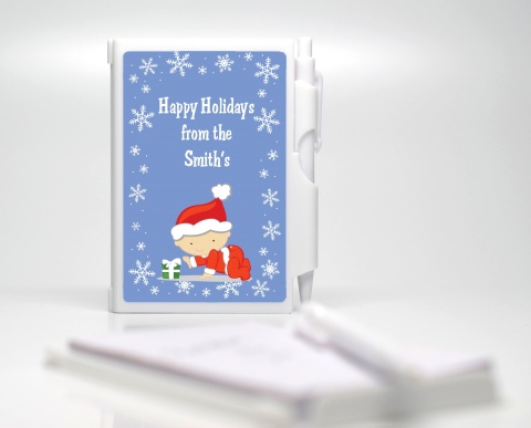 Christmas Baby Snowflakes - Baby Shower Personalized Notebook Favor