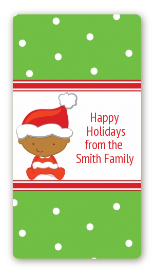 Christmas baby african american baby shower rectangular sticker labels