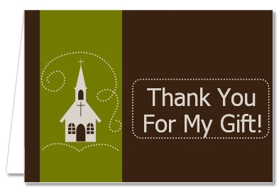 Baptism Christening Thank You Cards Church Thank You Notes