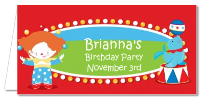 Circus - Personalized Birthday Party Place Cards