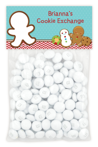Cookie Exchange - Custom Christmas Treat Bag Topper