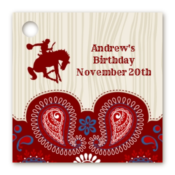 Cowboy Rider - Personalized Birthday Party Card Stock Favor Tags