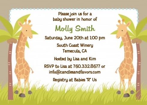 Twin giraffes baby shower invitations candles and favors twin giraffes baby shower invitations filmwisefo