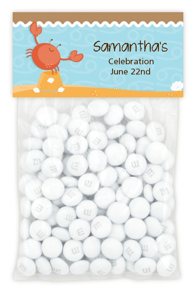 Crab | Cancer Horoscope - Custom Baby Shower Treat Bag Topper
