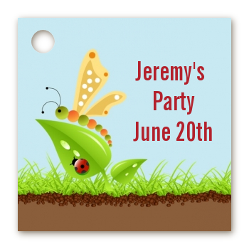 Critters Bugs & Insects - Personalized Birthday Party Card Stock Favor Tags