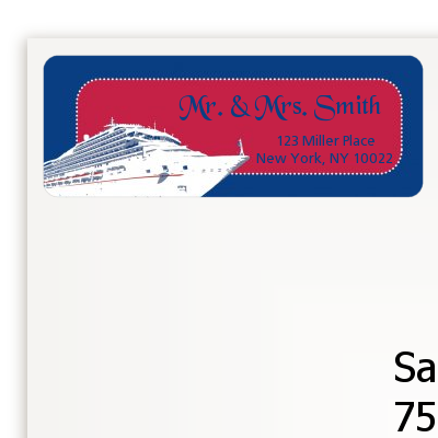Cruise Ship - Bridal Shower Return Address Labels