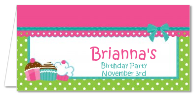 Cupcake Trio - Personalized Birthday Party Place Cards
