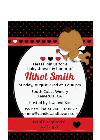 Cupid Baby Valentine S Day Baby Shower Petite Invitations