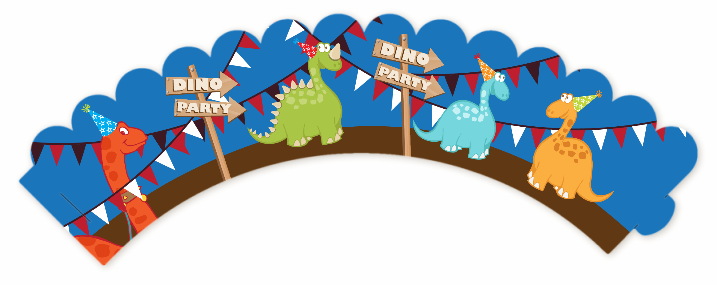 Dinosaur Birthday Party Cupcake Wrappers Candles Favors