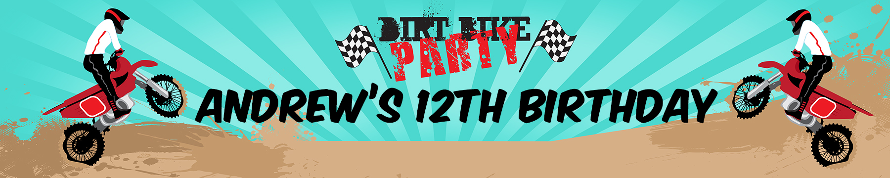 Dirt Bike - Personalized Birthday Party Banners thumbnail