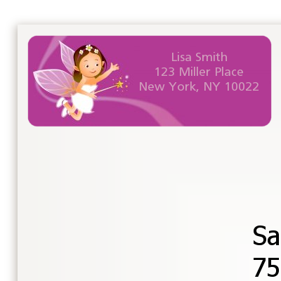 Fairy Princess - Birthday Party Return Address Labels