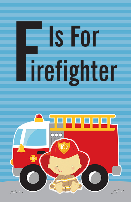 Future Firefighter - Personalized Baby Shower Nursery Wall Art Choose Asian
