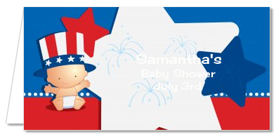 Fourth Of July Stars & Stripes - Personalized Baby Shower Place Cards
