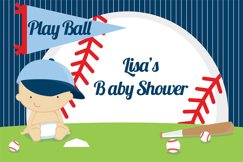 Future Baseball Player - Personalized Baby Shower Placemats Caucasian